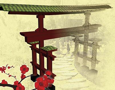 Réalisation d'une affiche : Les codes du Japon