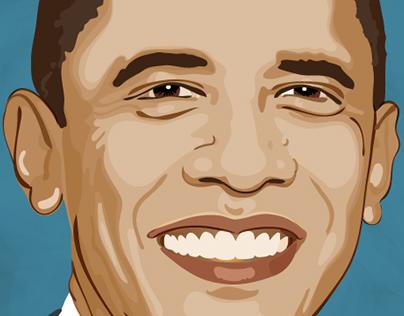 Vector Portrait - President Obama