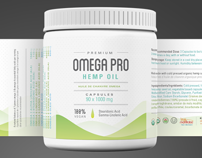 Omega Pro Hemp Oil - Packaging