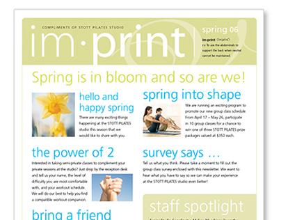Im•print Quarterly Newsletter