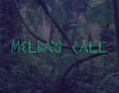 "Font design ""Melba's Call"""