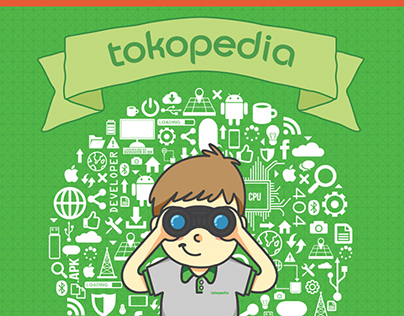 TOKOPEDIA I.T. Recruitment poster & brochure 2014