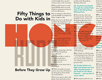 50 Things to Do with Kids in Hong Kong Poster