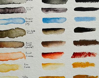 Watercolour Test: Schmincke on Hahnemuehle Cornwall
