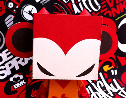 Devil monkey DMK (version2)  Paper TOY