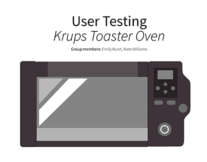 Krups Countertop Oven : UX Design: Krups Toaster Oven on Behance
