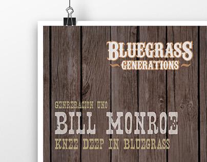 Sistema de afiches para evento de música country