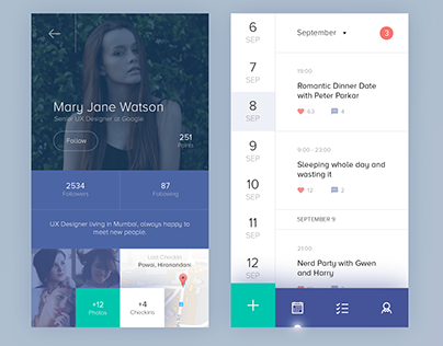 Calendar Interface Design