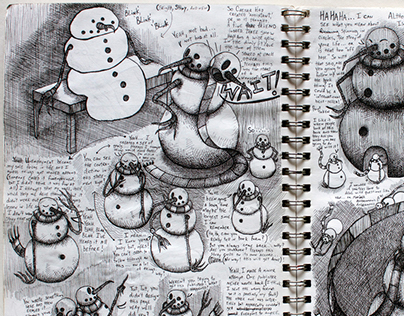 The Snowman Sketchbook