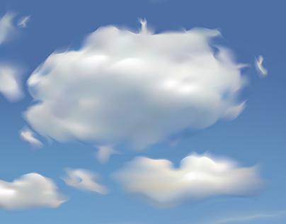 Gradient Mesh Clouds