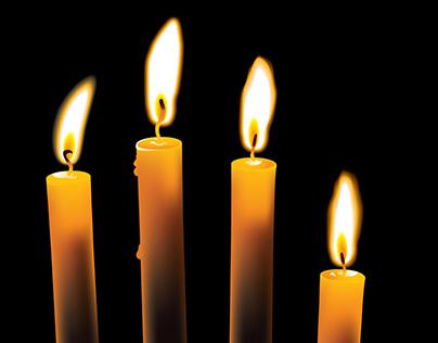 Gradient Mesh Candles