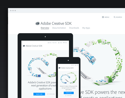 Adobe Creative SDK Website
