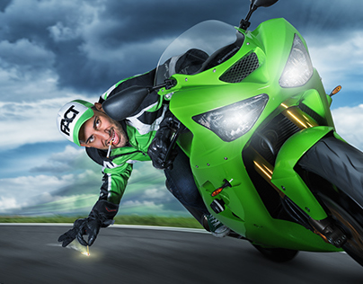 Nader and his Kawasaki Ninja