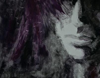 Monoprint: Self Portrait