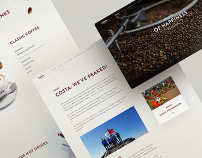 Costa Coffee Website