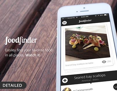 foodfinder app UI/UX design
