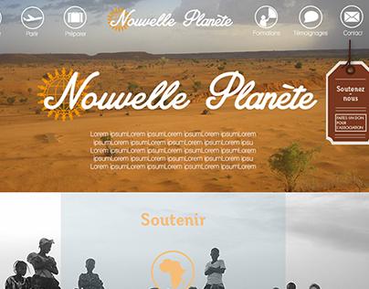 Nouvelle Planète - Webdesign
