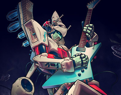 Giant Guitar-Robot