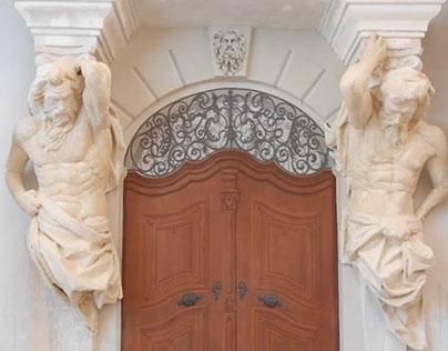 Painted portal (secco)