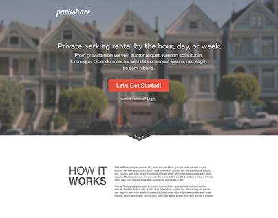 Parkshare App Landing Page