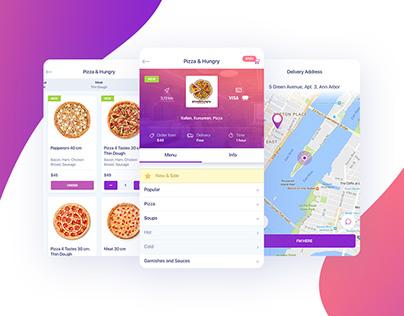 Food. App+Landing Page