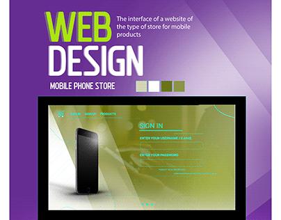 WEB DESIGN MOBILE PHONE STORE