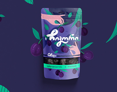 "Dried fruits ""Chikori"" packaging design"