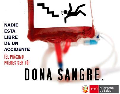 Nadie está libre. Dona sangre