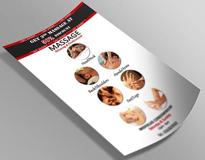 Massage Flyer | Malasian professional massage salon