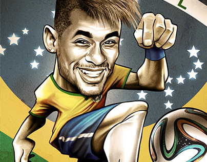 Brasil 2014 Caricatures posters