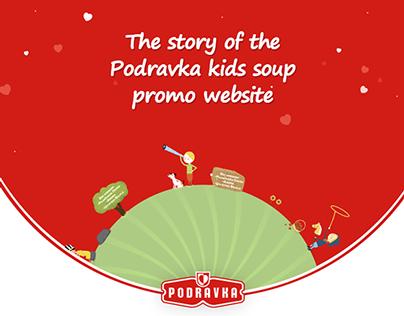 The story of the Podravka kids soup website