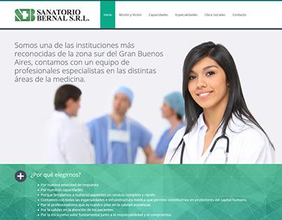 Web Site Sanatorio Bernal