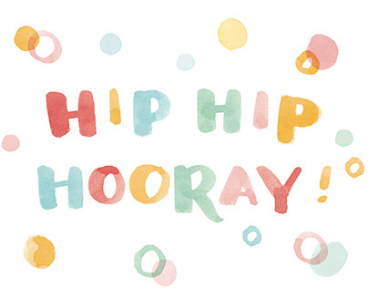 Hip Hip Hooray! - Congratulations Card