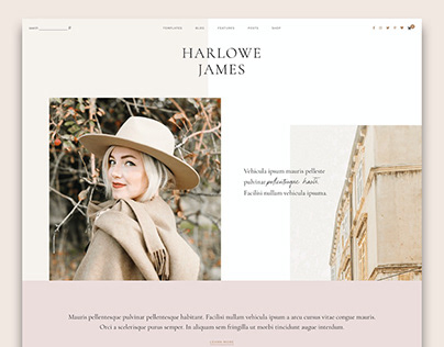 Harlowe: Blog & Shop WordPress Theme