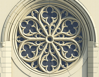 Gothic rose window tracery on behance for Rose window design