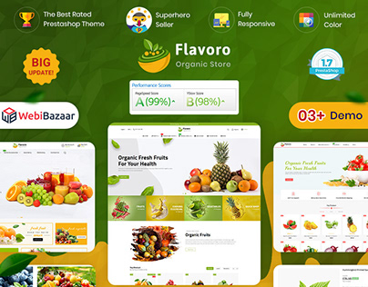 Flavoro - Fresh Organic Food Delivery Store Template