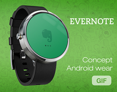 Evernote Portable - Android wear concept