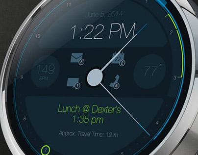 Moto 360 smartwatch UI concept