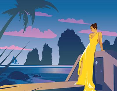 Vintage Cabo Travel Poster