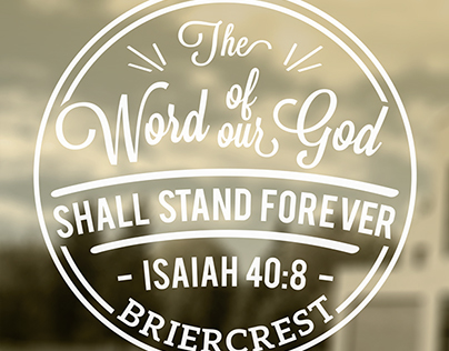 Isaiah 40:8 Seal Typography