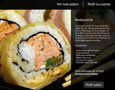Menú Restaurantes