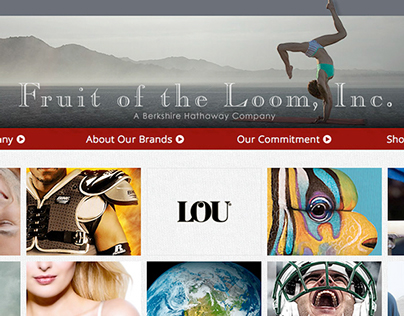 Fruit of the Loom, Inc. Corporate Brand Web Site