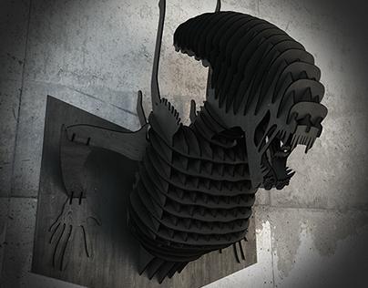 Alien Torso wall decor