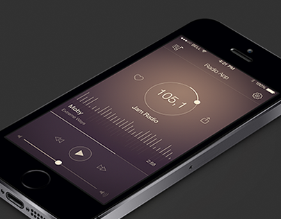 Radio App Concept for iPhone