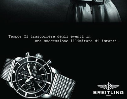 Advertising Breitling watches