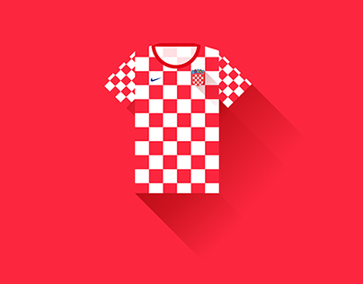 Design Flat - In the games of the World Cup - Croatia
