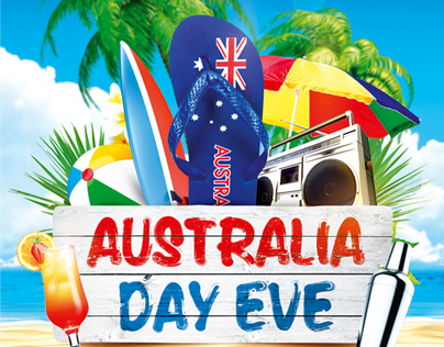 Australia Day Party Flyer vol.4