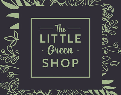 The LITTLE Green SHOP / logo / style / 2019