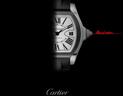 Advertising Cartier watches