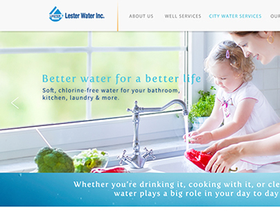 Lester Water Webpage Redesign